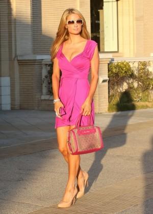 Paris Hilton: Shopping Candids at Barneys -09