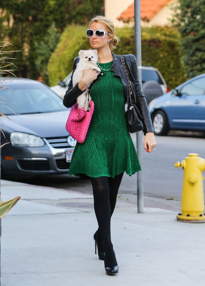 Paris Hilton Street Style – out in Beverly Hills