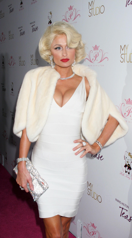 Paris Hilton Tease Fragrance Launch In La Marilyn Monroe
