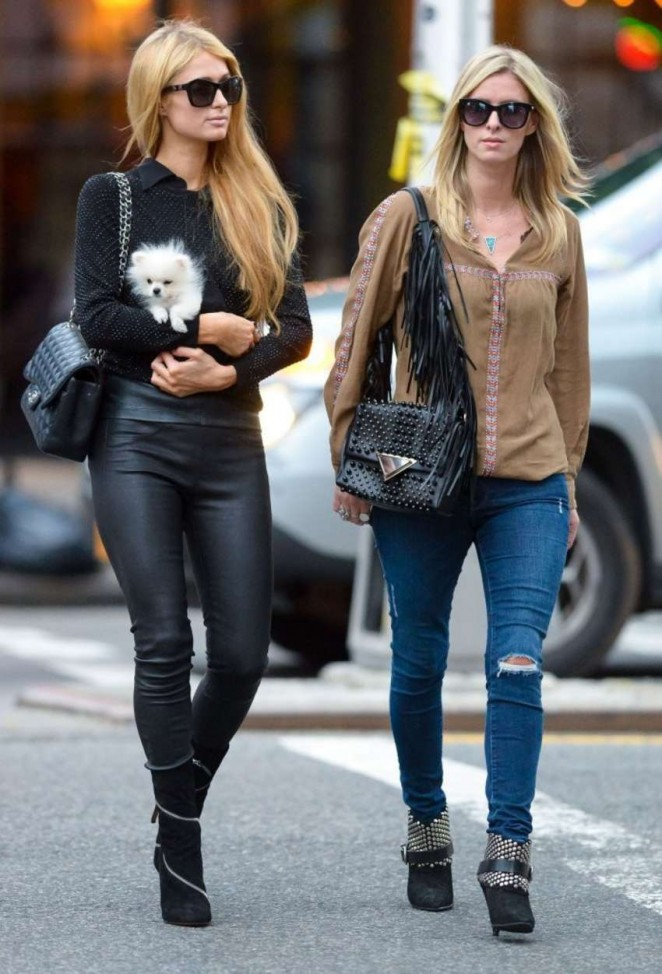 Paris & Nicky Hilton - Hanging out in NYC