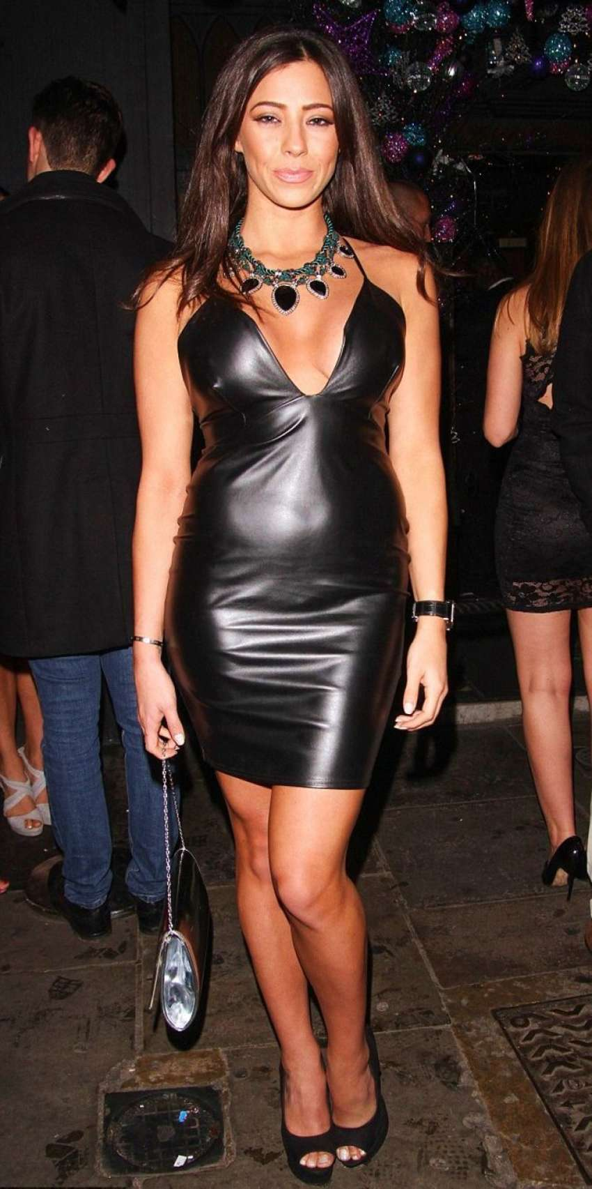 Busty in leather