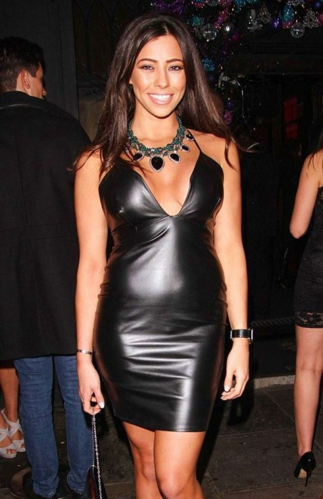 Pascal Craymer in Tight Leather Dress -02