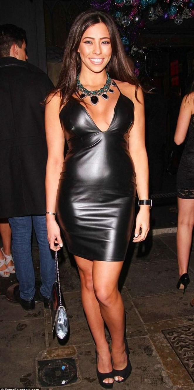 Pascal Craymer in Tight Leather Dress -04