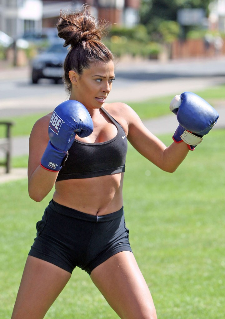 Pascal Craymer in Shorts Workout in Leigh-On-Sea