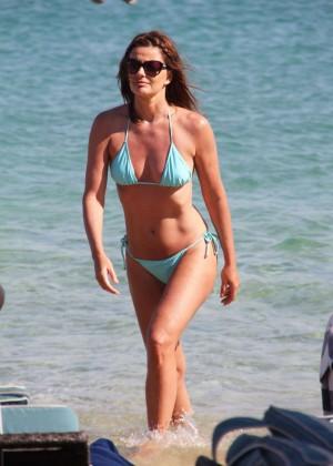 Paulina Porizkova Bikini Photos: Miami -01
