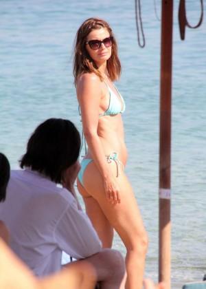 Paulina Porizkova Bikini Photos: Miami -02