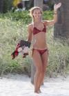 Petra Benova In a red bikini -04