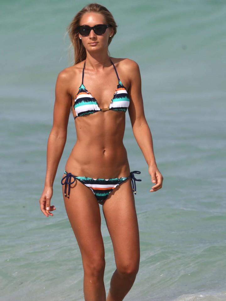 Petra Benova in Bikini on Miami Beach