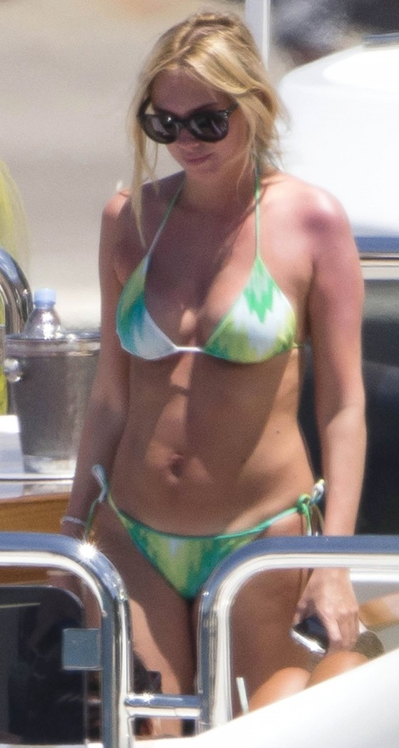 Petra Ecclestone and Tamara Bikini candids on yacht in Capri-15