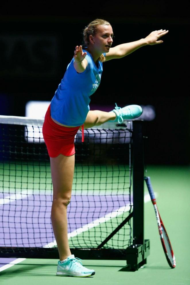 Petra Kvitova - Practices WTA Finals 2014 in Singapore