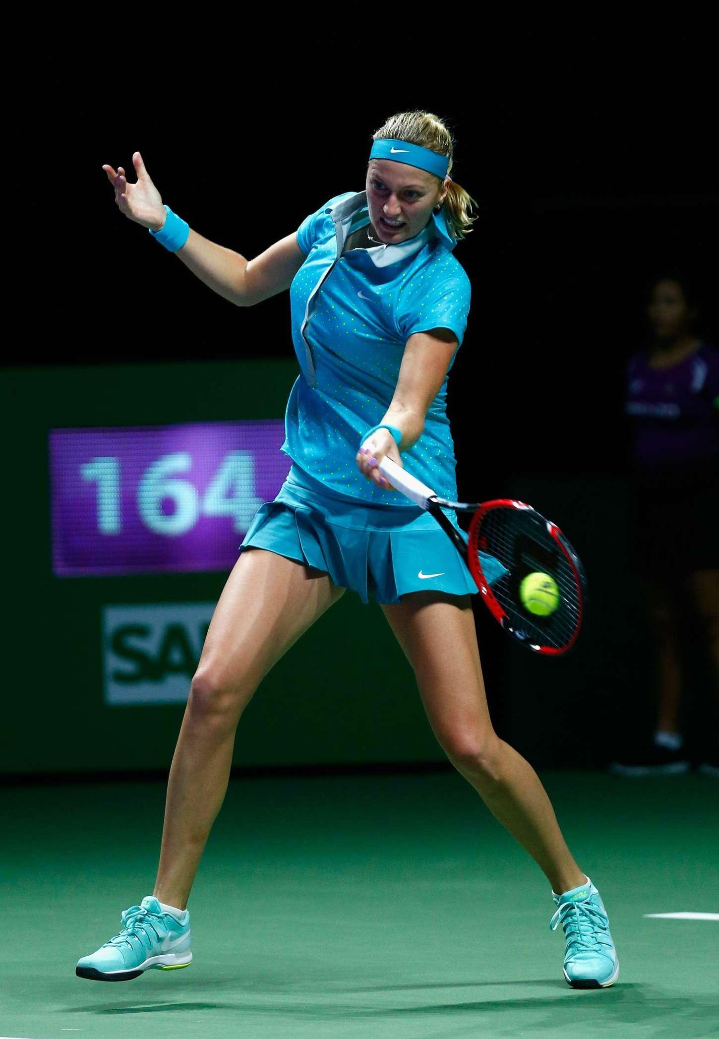 petra kvitova at wta finals in singapore