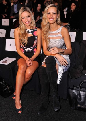 Petra Nemcova and Katrina Bowden - Badgley Mischka 2014 Fashion Show in New York -03