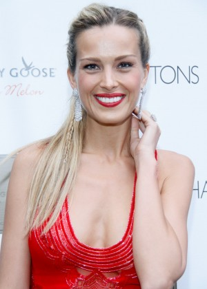 Petra Nemcova in Red Dress at Hamptons Magazine's Cover Event in Southampton