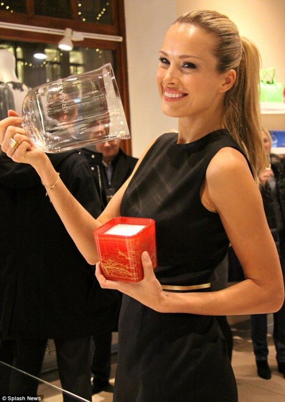Petra Nemcova – Promotes her luxury candle line in Prague