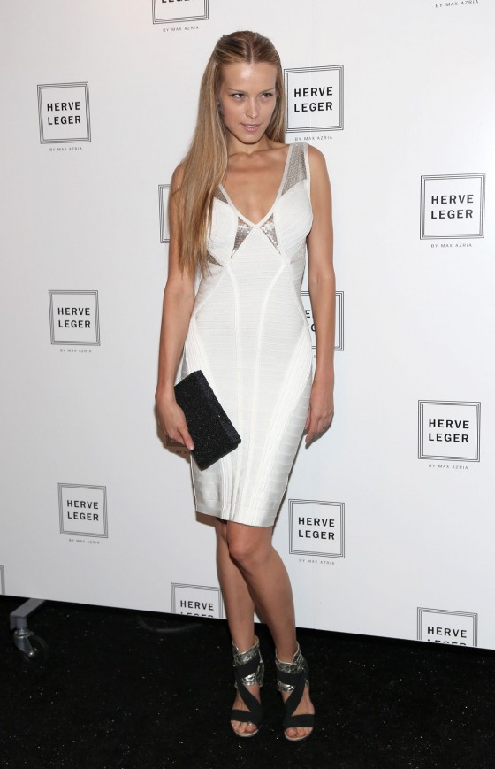 Petra Nwmcova - Herve Leger Fashion Show 2012 in NY
