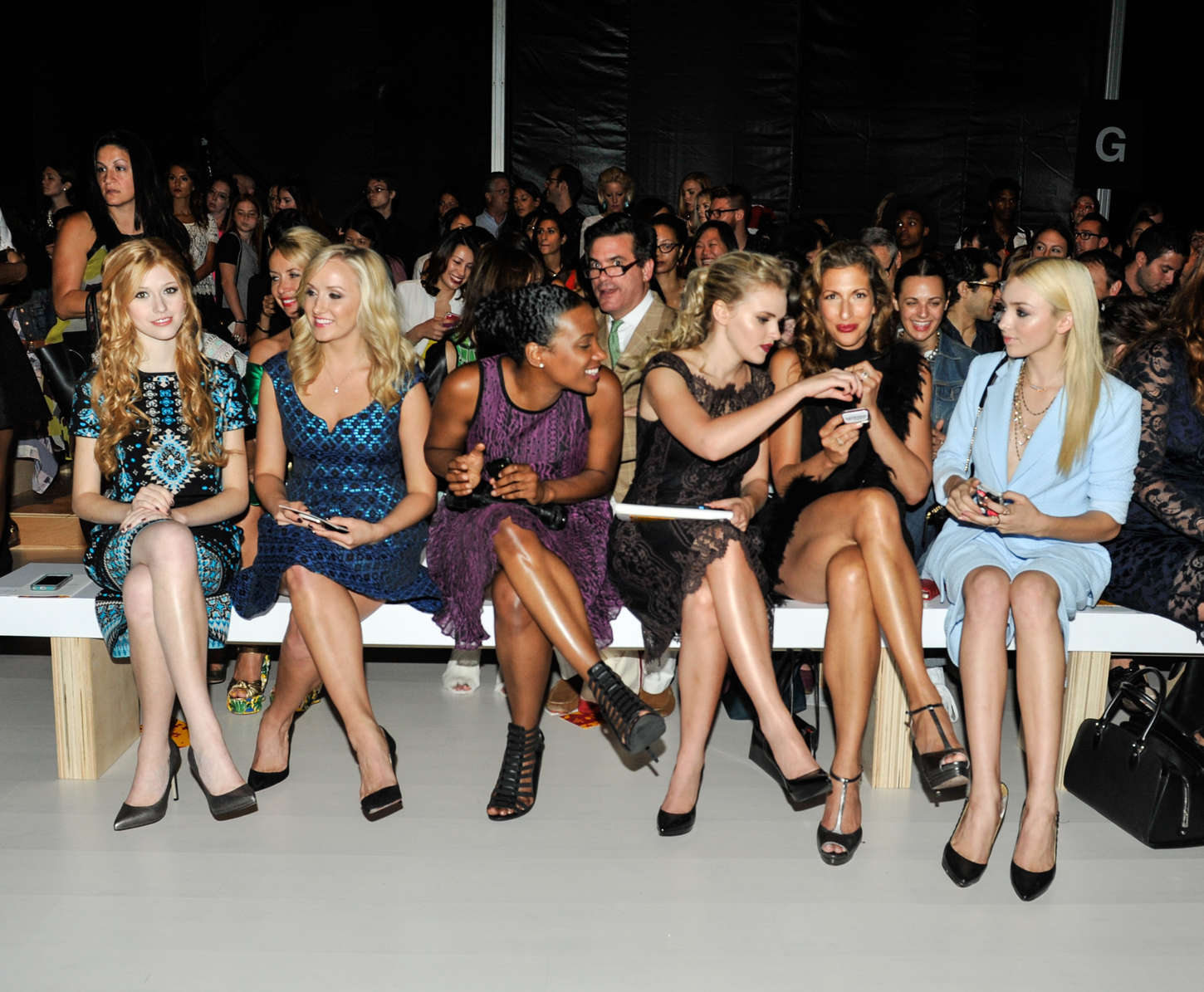 Peyton List At Nanette Lepore Fashion Show