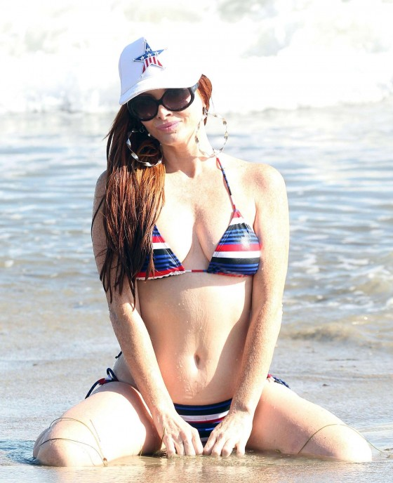 Phoebe Price in Bikini Candids on the Beach in Malibu