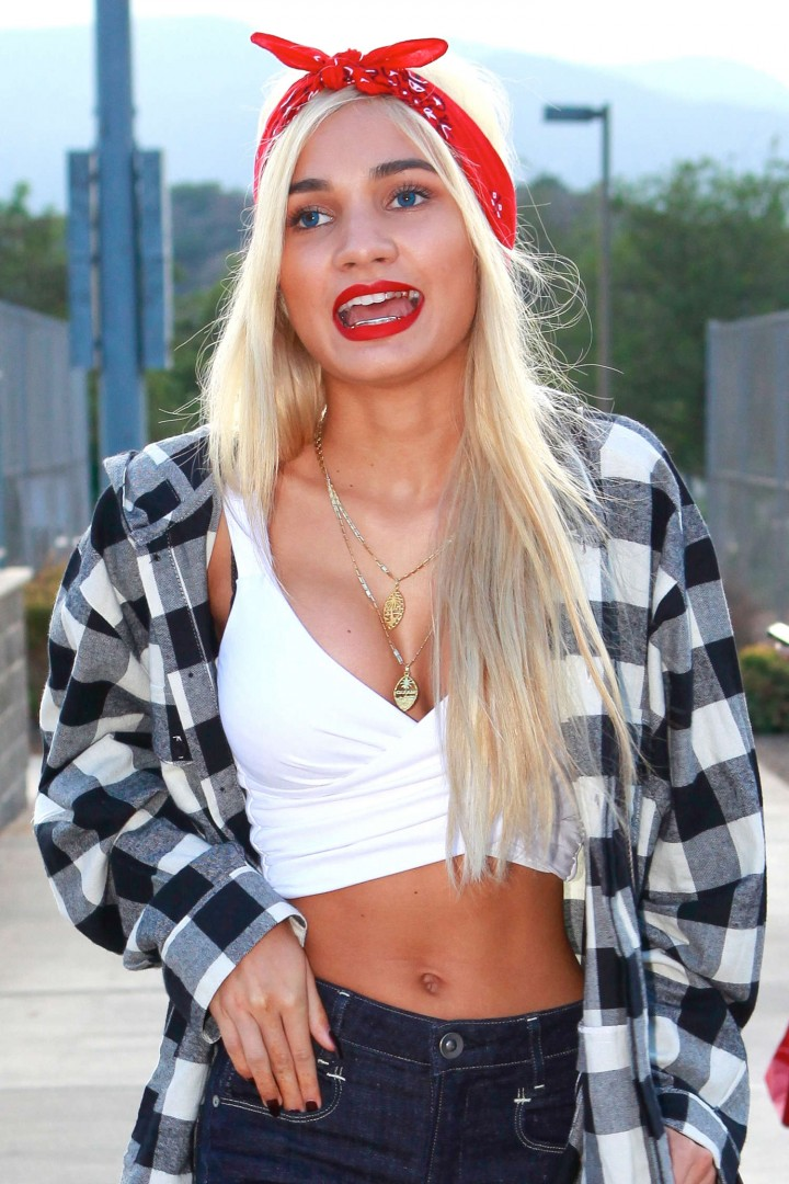 Pia Mia Perez - Kick'N It For Charity Celebrity Kick Ball Game in Glendale