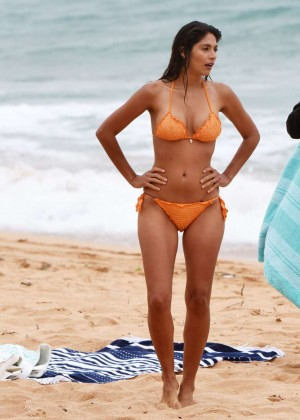 "Pia Miller in Bikini - Filming ""Home & Away"" at Palm Beach in Australia"