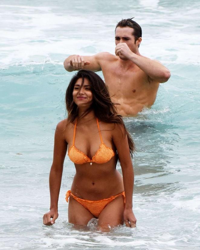 Pia Miller in Bikini on Home and Away set -23