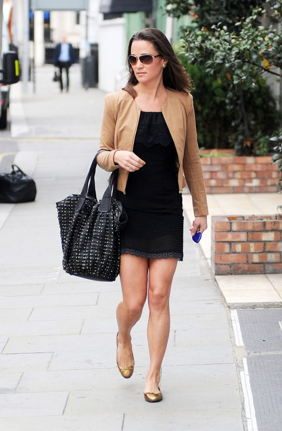 Pippa Middleton – Black Dress Candids in London