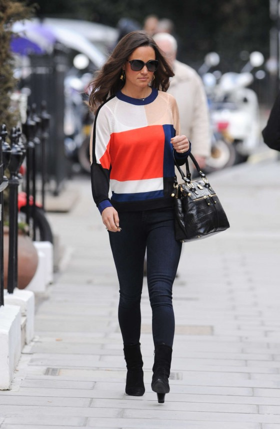Pippa Middleton in tight jeans in London