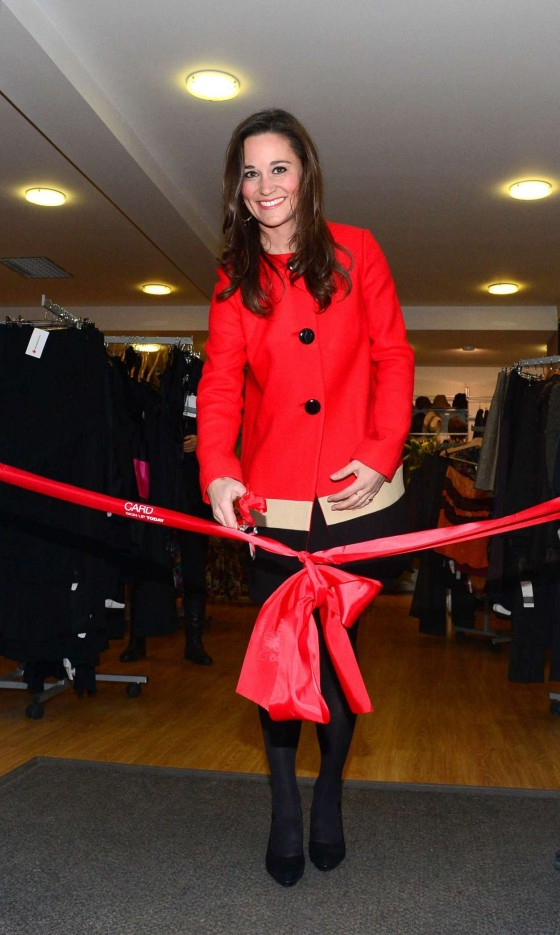 Pippa Middleton - Opens the Christmas designer sale at the Red Cross Shop In London