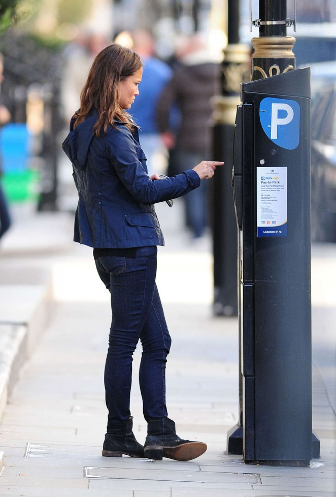 Pippa Middleton in Tight Jeans out in London