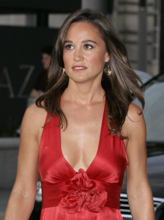Pippa Middleton - Red Dress Candids in London-04