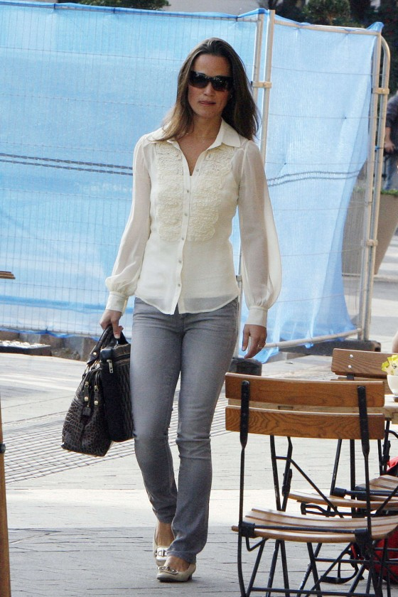 Pippa Middleton – Tight Jeans Candids in London