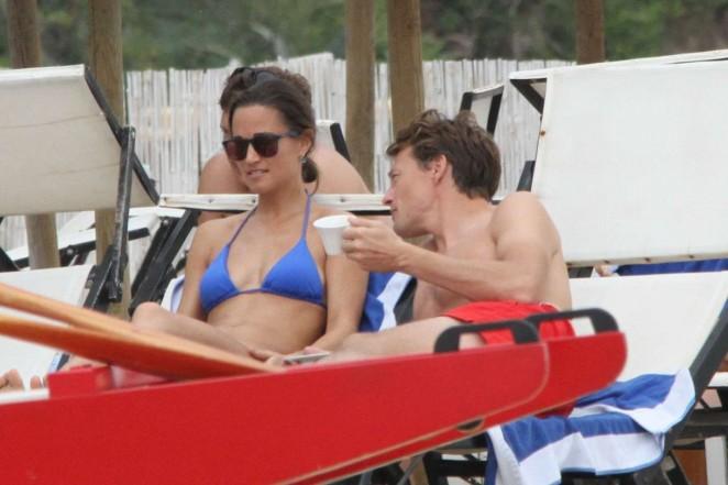 Pippa Middleton in Blue Bikini in Italy