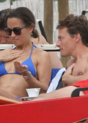 Pippa Middleton in Blue Bikini -05