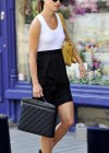 Pippa Middleton Wearing White Tank Top in London-09