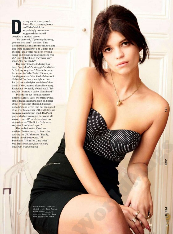 Pixie Geldof in Esquire UK Photoshoot - Jan 2013