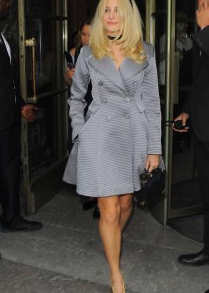 Pixie Lott - Leaving the Temperley London Fashion Show in London