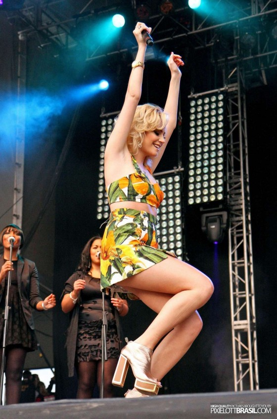 Pixie Lott - performing at Chester Rocks at Chester Racecourse