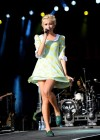 Pixie Lott in short dress at Performing in Wales