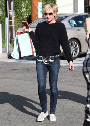 Portia de Rossi in Tight Jeans Shopping in West Hollywood