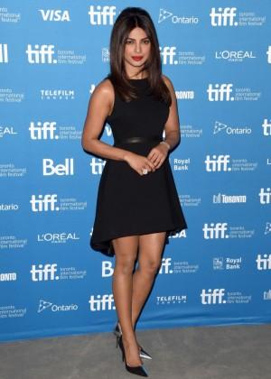 Priyanka Chopra in Mini Dress at Mary Kom Press Conference in Toronto