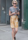 Rachael Taylor walking around Soho, NYC -01