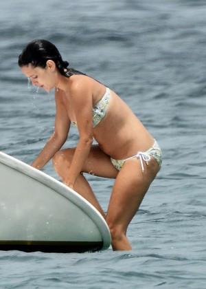 Rachel Bilson In Bikini on yacht -04