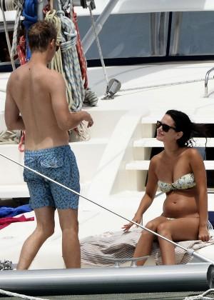 Rachel Bilson In Bikini on yacht -06