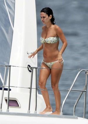 Rachel Bilson In Bikini on yacht -07