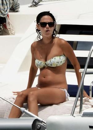 Rachel Bilson In Bikini on yacht -09