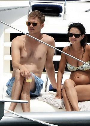 Rachel Bilson In Bikini on yacht -12