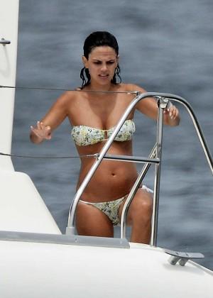 Rachel Bilson In Bikini on yacht -13