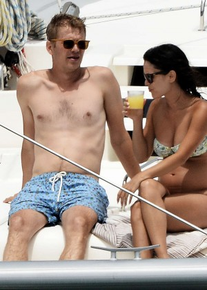 Rachel Bilson In Bikini on yacht -20