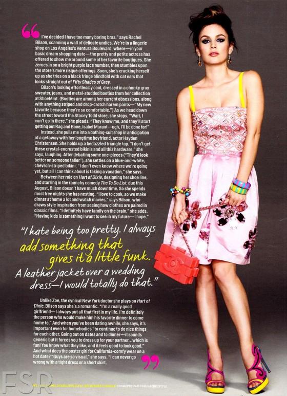 Rachel Bilson in Cosmopolitan Magazine – May 2013 -02