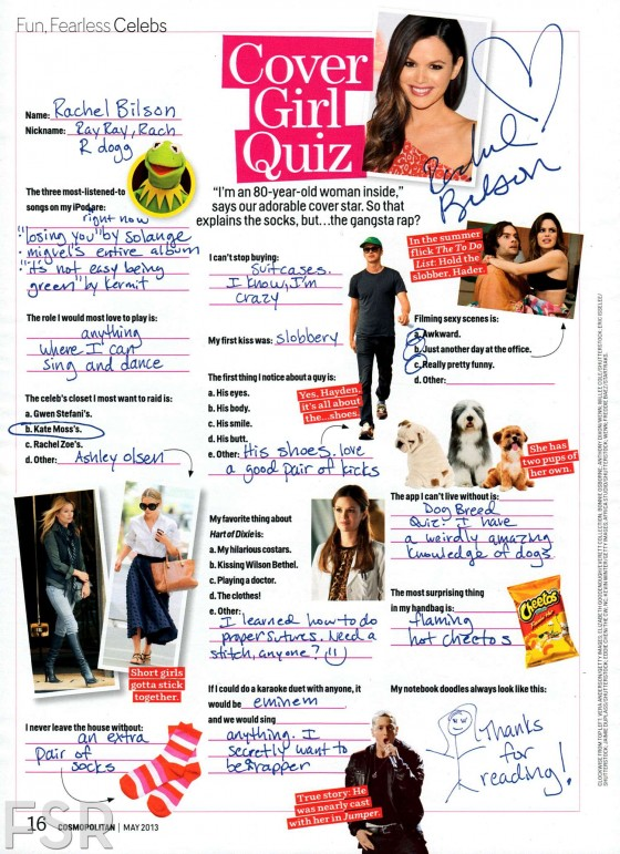 Rachel Bilson in Cosmopolitan Magazine – May 2013 -08