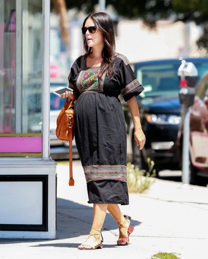 Rachel Bilson in Long Dress Shopping in Studio City